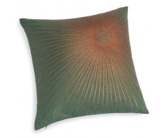 Fodera di cuscino verde in cotone 40 x 40 cm SOLE