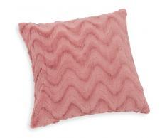 Cuscino rosa in simil pelliccia 45 x 45 cm VIVIEN