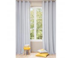 Tenda blu nuvola in lino slavato con occhielli 140 x 300 cm