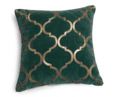 Fodera di cuscino verde in velluto 40 x 40 cm ALAZANI