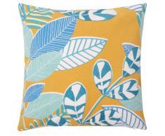 Fodera di cuscino in cotone stampa a foglie, 40x40 cm