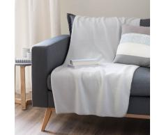 Plaid grigio chiaro in pile 130 x 170 cm POLAR