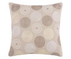 Fodera di cuscino beige ricamata, 40x40