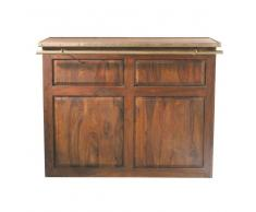 Mobile bar in massello di legno di sheesham L 132 cm Lubéron