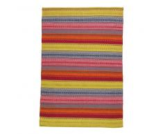 Tappeto multicolore tessuto jacquard 140 x 200 cm KIGALI