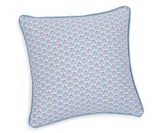 Federa per cuscino in cotone azzurro/arancione 40 x 40 cm PESCA