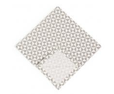 4 tovaglioli bianchi/grigi in cotone 40 x 40 cm ZIGGY