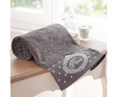 Telo da bagno grigio in cotone 100 x 150 cm PARIS