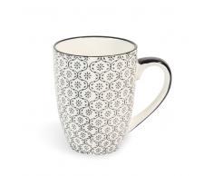 Mug bianca/nera in maiolica CHIANG MAI