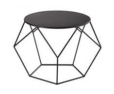 Tavolo basso rotondo nero in metallo D 64 cm Prism