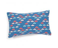 Federa per cuscino in cotone azzurro 30 x 50 cm BATEAU