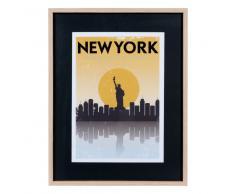 Quadro in legno giallo 28 x 37 cm YELLOW NEW YORK