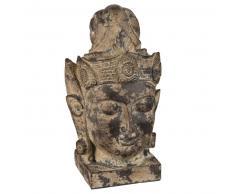 Statuetta testa di Buddha in cemento H34