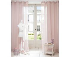 Tenda rosa in tessuto con occhielli 140 x 250 cm BEAUNE