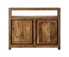 Mobile bar in massello di legno di sheesham L 130 cm Stockholm