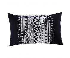 Cuscino da giardino grafico in tessuto nero e bianco 30x50cm RALAYA