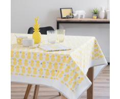 Tovaglia quadrata gialla in cotone 150 x 150 cm PINAPPLE