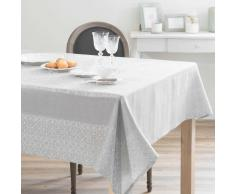 Tovaglia grigia in cotone e lino 170 x 250 cm LISBONNE