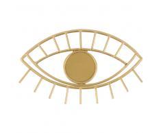 Attaccapanni occhio a 1 gancio in metallo dorato