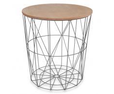 Tavolino da salotto grigio in metallo D 40 cm ZIGZAG