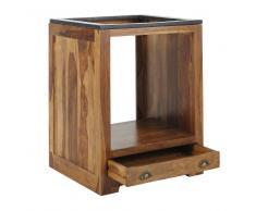 Mobile basso da cucina in massello di legno di sheesham per forno L 70 cm Lubéron