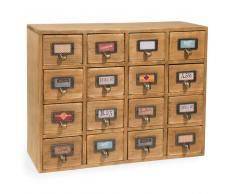 Scaffale 16 cassetti in legno H 35 cm ST MAXIMIN