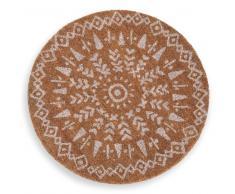 Zerbino rotondo a motivi etnici D.50 cm WHITE ISLAND