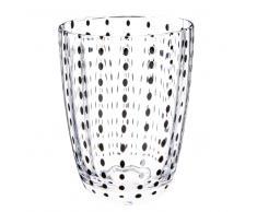 Bicchiere in vetro nero POINTILLES