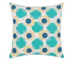Fodera di cuscino in cotone ricami grafici, 40x40 cm