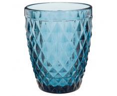 Bicchiere blu in vetro CARAT