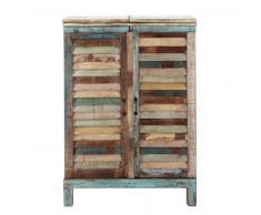 Mobile bar multicolore in legno riciclato L 75 cm Calanque