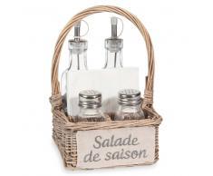 Cestino portacondimenti in vimini SALADE DE SAISON