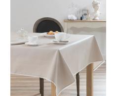 Tovaglia rivestita beige in cotone 140 x 140 cm CAMILLE