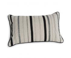 Fodera di cuscino in cotone beige a righe 30 x 50 cm MODICA