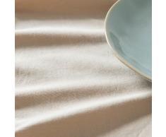 Tovaglia in cotone beige, 150x250 cm