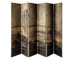 Paravento stampato in legno L 242 cm LAVOISIER