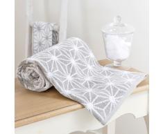 Telo da bagno grigio in cotone 100 x 150 cm NORDIC