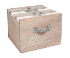Scatola 6 album fotografici in legno 13 x 17 cm ENJOY