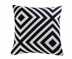 Cuscino da giardino con motivi geometrici neri e bianchi 45x45cm NAHIRA