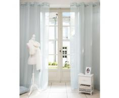 Tenda blu in tessuto con occhielli 140 x 250 cm BEAUNE