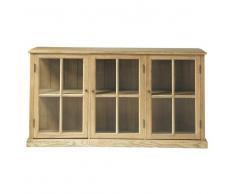 Credenza con vetrine in massello di quercia L 171 cm Atelier