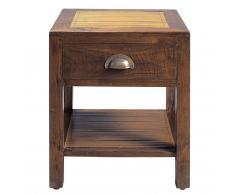 Comodino in massello di tek con cassetto L 40 cm Bamboo