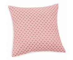 Fodera di cuscino rosa in cotone ricamato 40x40 cm SELMA