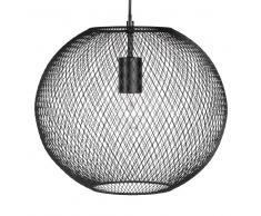 Lampada a sospensione sfera nera in fili di metallo