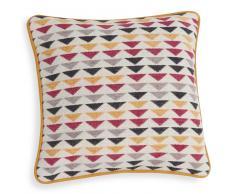 Fodera di cuscino in cotone a motivi triangolari multicolore 40 x 40 cm NADOR