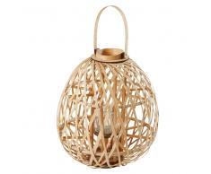 Lanterna in bambù intrecciato colore naturale