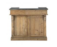 Mobile bar in legno riciclato L 120 cm Pagnol