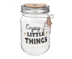 Candela barattolo H 12 cm LITTLE THINGS