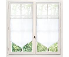Tenda corta bianca in cotone 60x120 cm