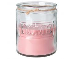 Candela profumata in vetro colorato rosa antico